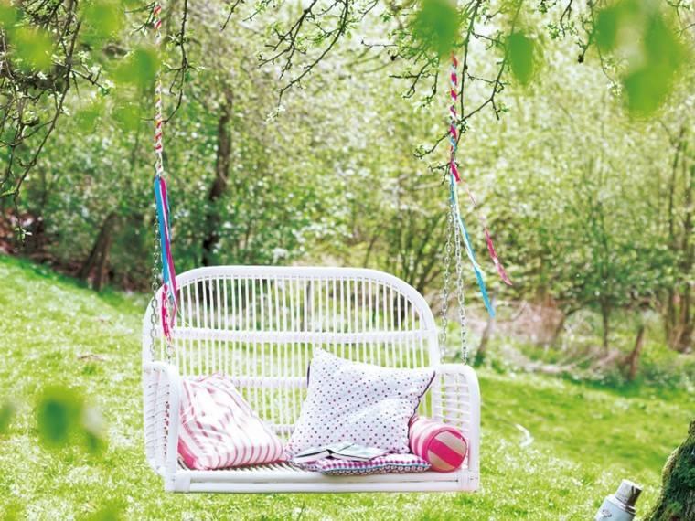Accesorios jardin adornos muebles y luces de exterior - Columpio madera jardin ...