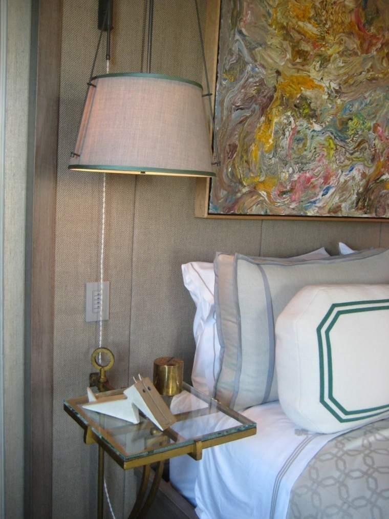 estupendo cuadro cama cabecero pinceladas