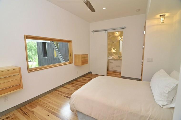 estupendo dormitorio puerta corredera blanca