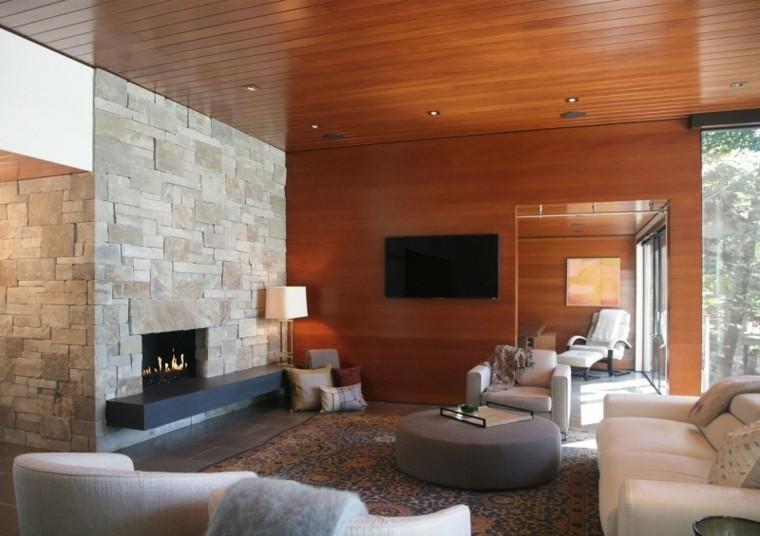 estupendo salon moderno laminado madera