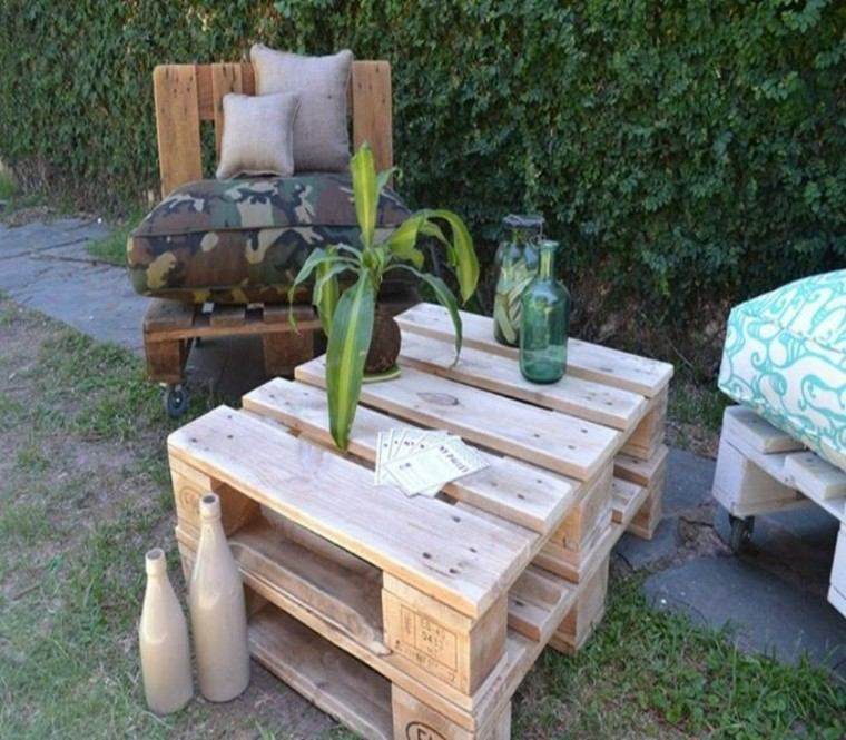 Muebles hechos con palets 100 ideas para el hogar for Mesa exterior diseno