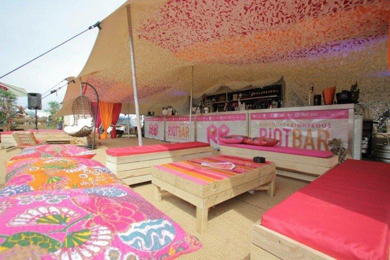 Muebles hechos con palets 100 ideas para el hogar - Cojines exterior ...