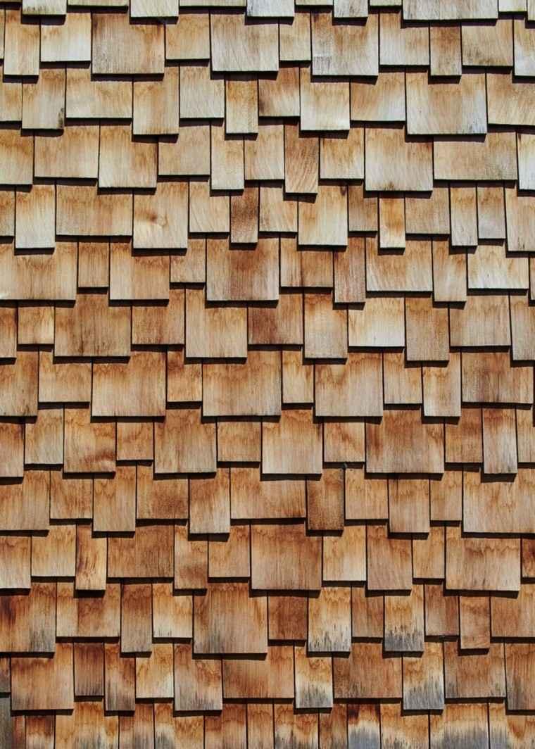 fachada laminado madera moderna