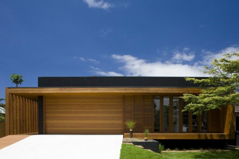 fachadas modernas pared exterior madera