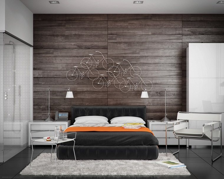 excellent cheap cool fantasa decoracion preciosa pared madera dormitorio moderno with decoracion paredes habitacion with decoracion paredes madera with - Decorar Paredes Con Madera