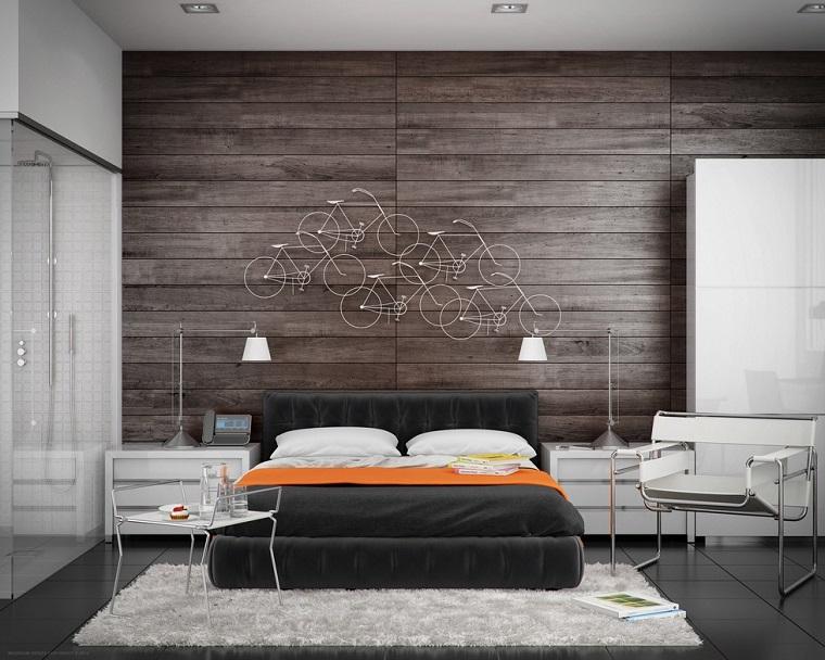 Fantas a y modernidad 50 ideas para el dormitorio - Paredes de madera decoracion ...