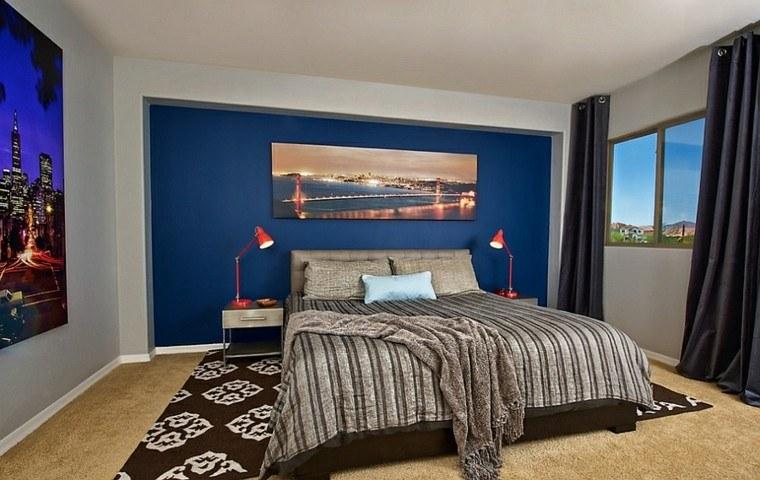 Fantas a y modernidad 50 ideas para el dormitorio Color vison para paredes