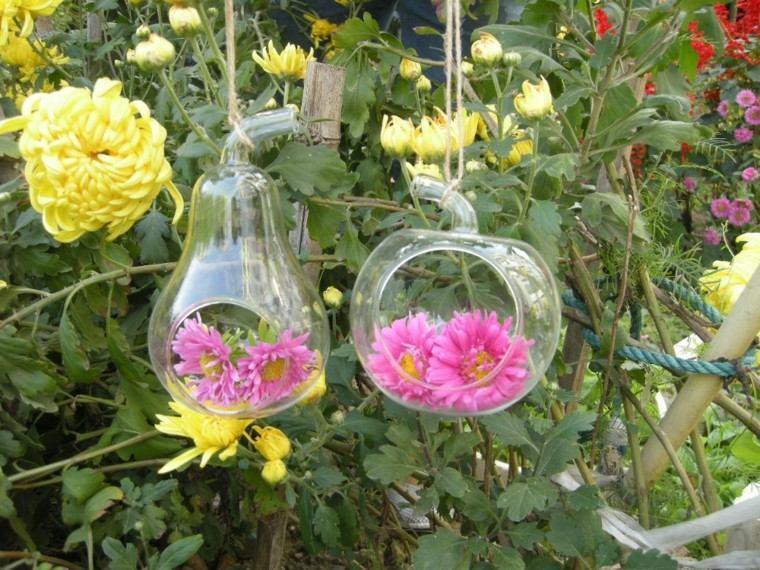 frutas cristal colgantes protegen flores