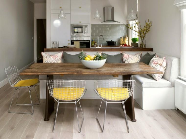 frutas metal sillas mesa diseño