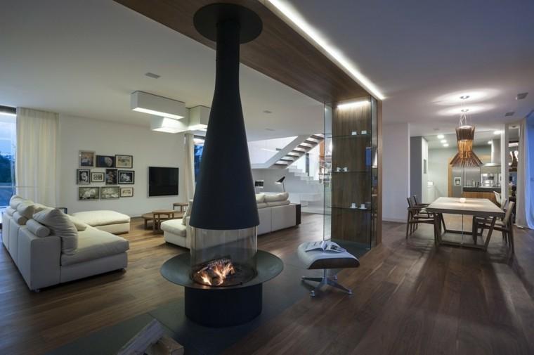 fuego madera hoguera cuadros led techo