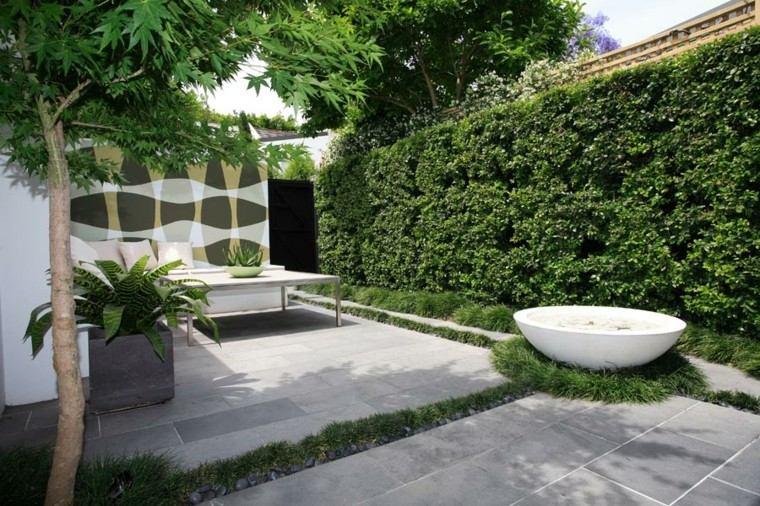 fuente agua redonda jardin pequeo
