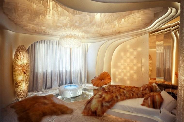 fuente redonda estilo lujoso cama