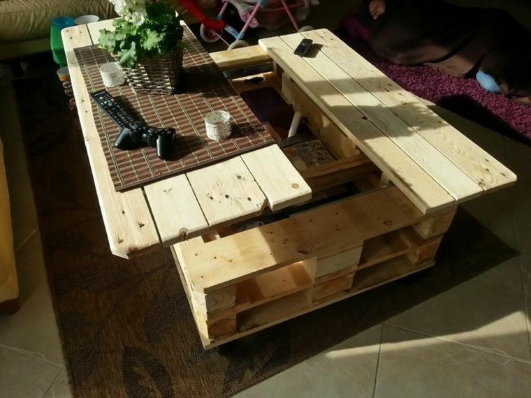 funcional mesa madera convertible palet