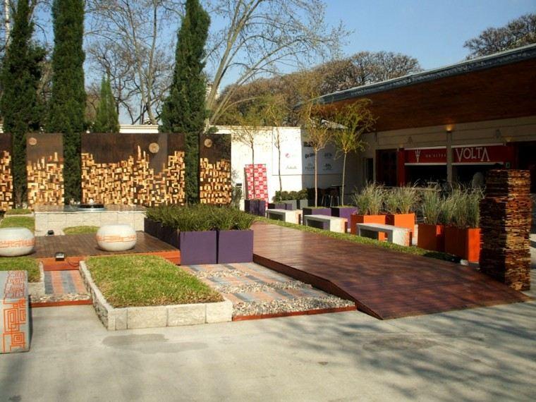 Jardin minimalista armon a de las formas en 50 ideas Decoracion minimalista definicion