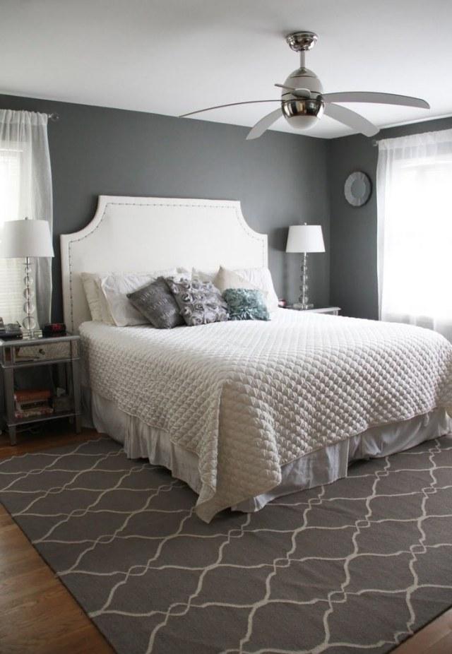 gris decoracion ventilador techo