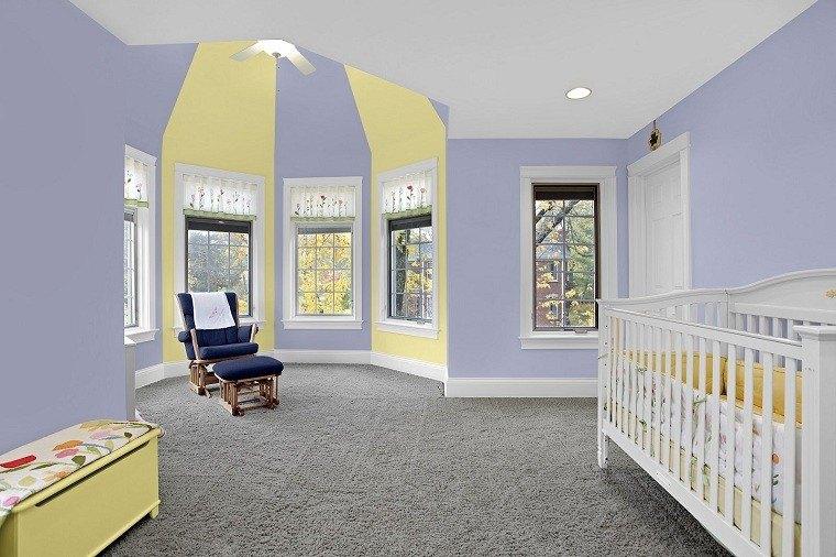 habitacion bebe led muebles amarillo