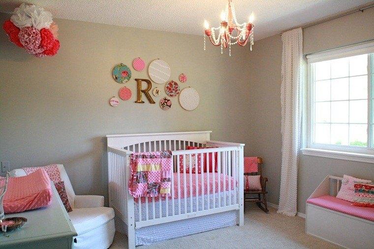 habitacion bebe rosa decoracion letra