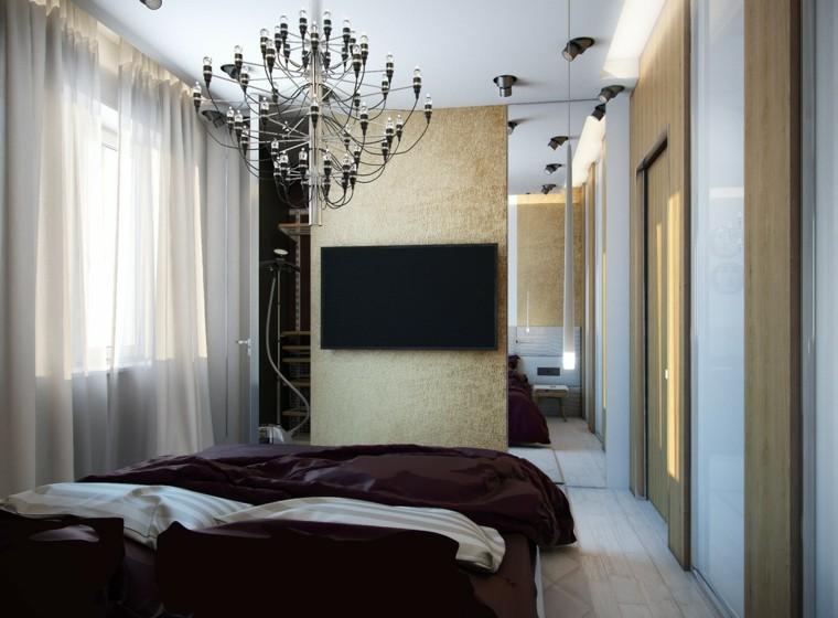 habitacion moderna lampara araña techo