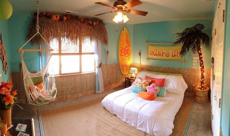 habitaciones chicos divertida tropical hamaca