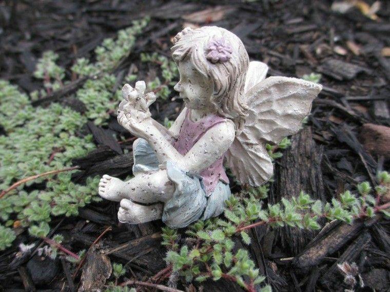 hada piedra decoracion jardin