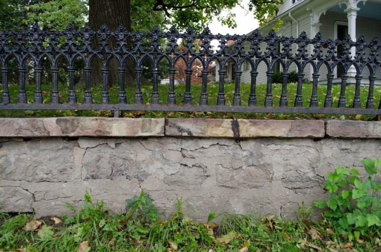 homigon piedras grande valla metalica negra