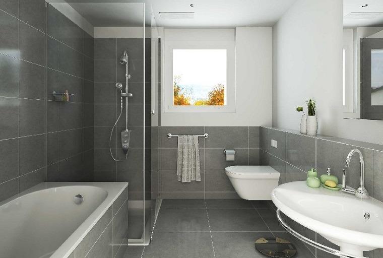 Cuartos de baño con ducha y bañera muy singulares -