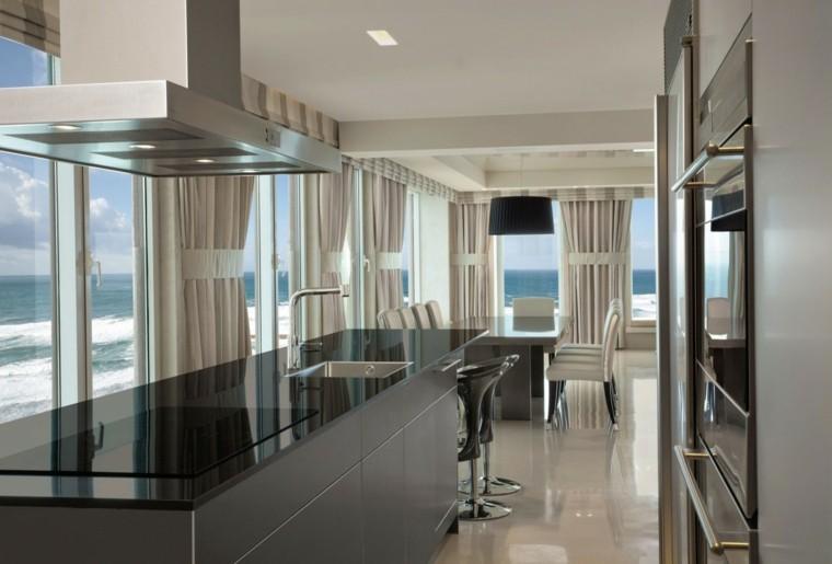 ideas cocina moderno diseño abierto