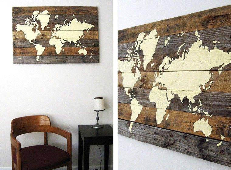 ideas con palets mapa mundial silla