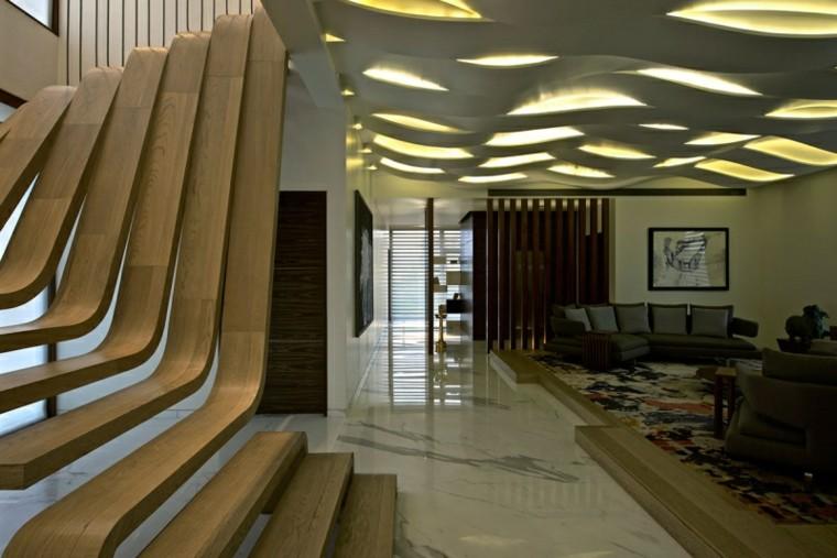 ideas decoración escaleras madera preciosas modernas