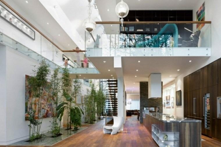 ideas decoración plantas naturalidad salon abierto cocina moderna