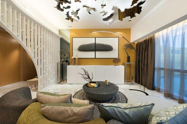 ideas decoración techo espejos originales modernas