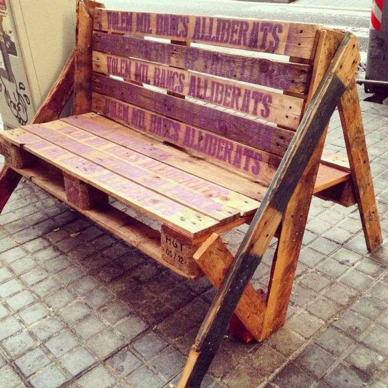 ideas diseño asientos paletas reforzado