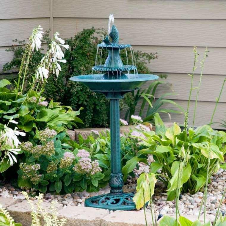 ideas fuentes jardin preciosas acero pequenas moderna