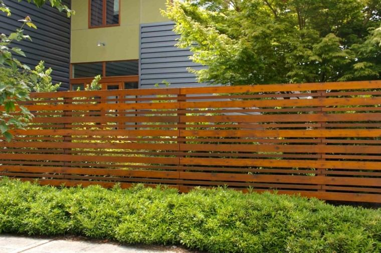 Vallas de madera y vallas met licas para el jard n - Aki vallas jardin ...