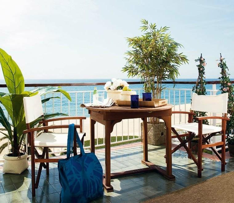 ideas para terrazas madera mar muebles