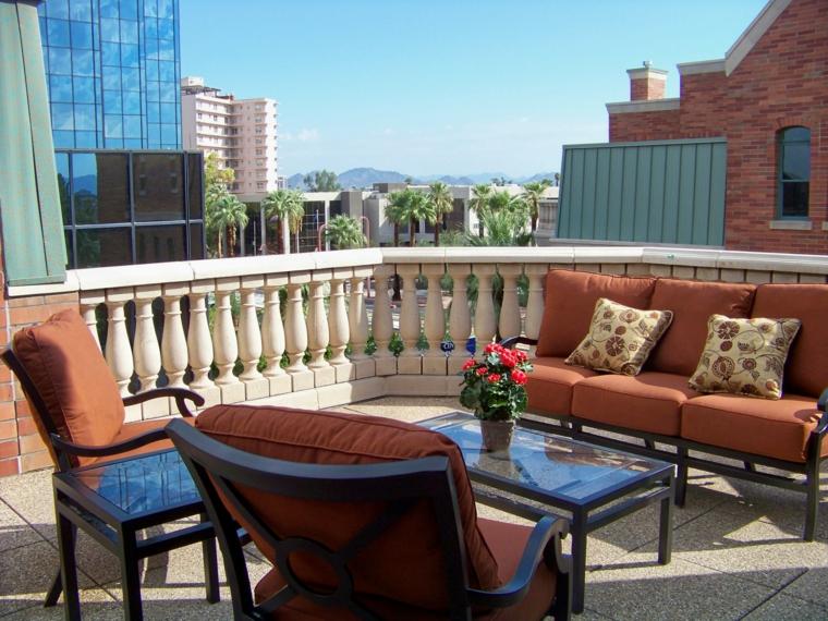 Ideas para terrazas patios o balcones acogedores for Muebles para terraza exterior