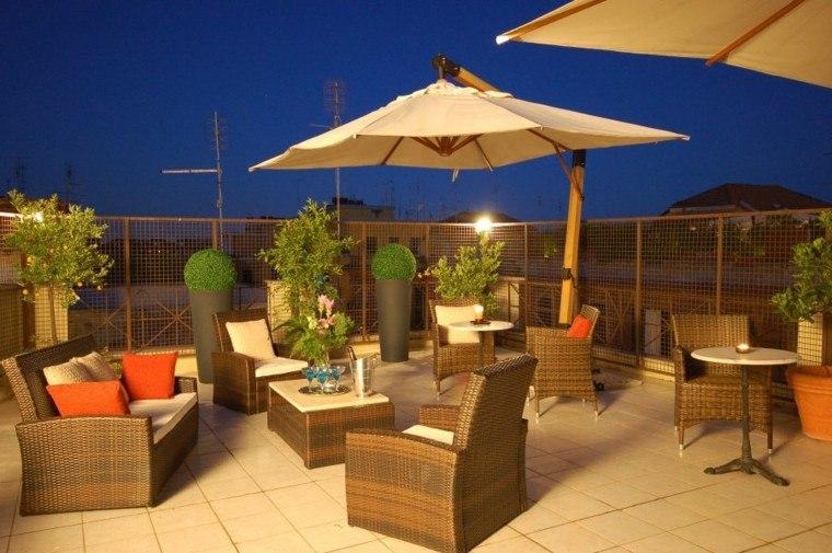 ideas para terrazas ratan muebles calida