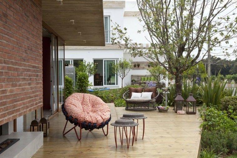 ideas para terrazas sillas diseño cojines