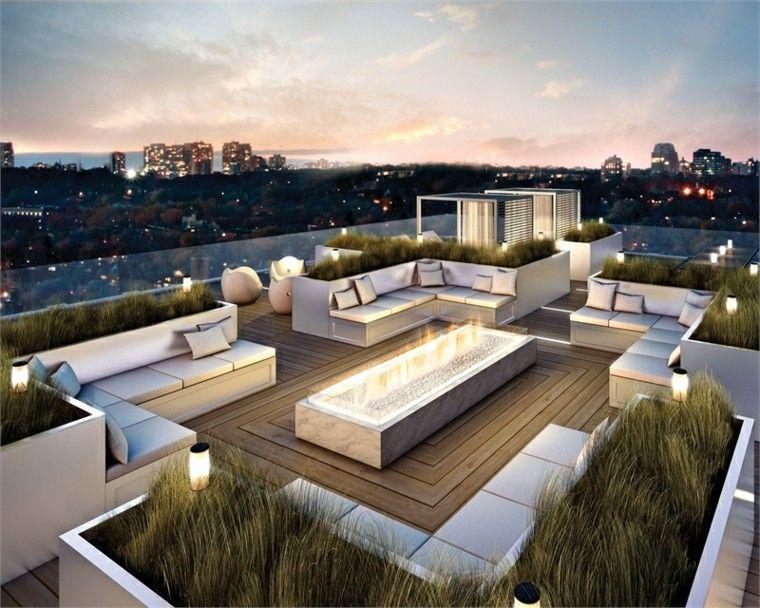 ideas para terrazas techo terraza jardineras