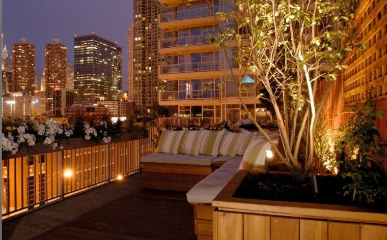 iluminacion exterior calido terraza luces