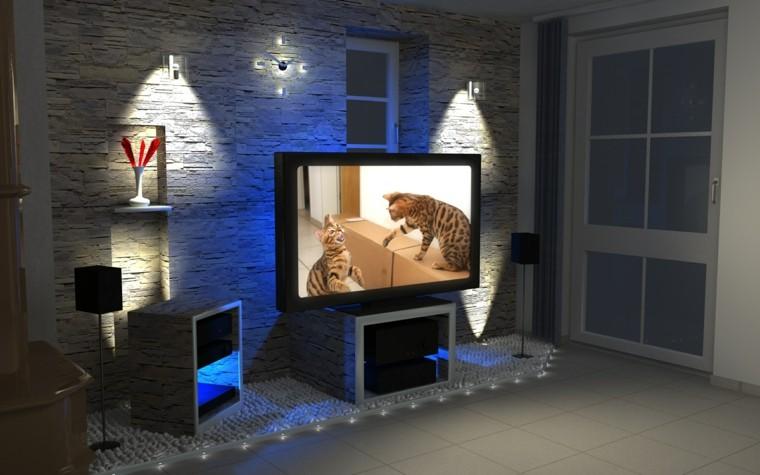 Efectos originales para tu iluminaci n exterior e interior - Iluminacion salon moderno ...
