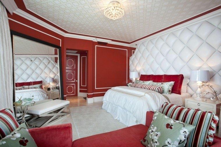 interior color rojo vibrante combinado blanco ideas