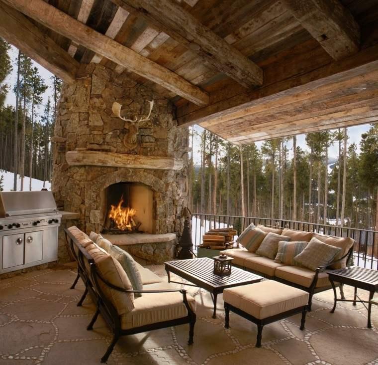 Piedra y madera para los revestimientos de paredes - Interiores de piedra ...