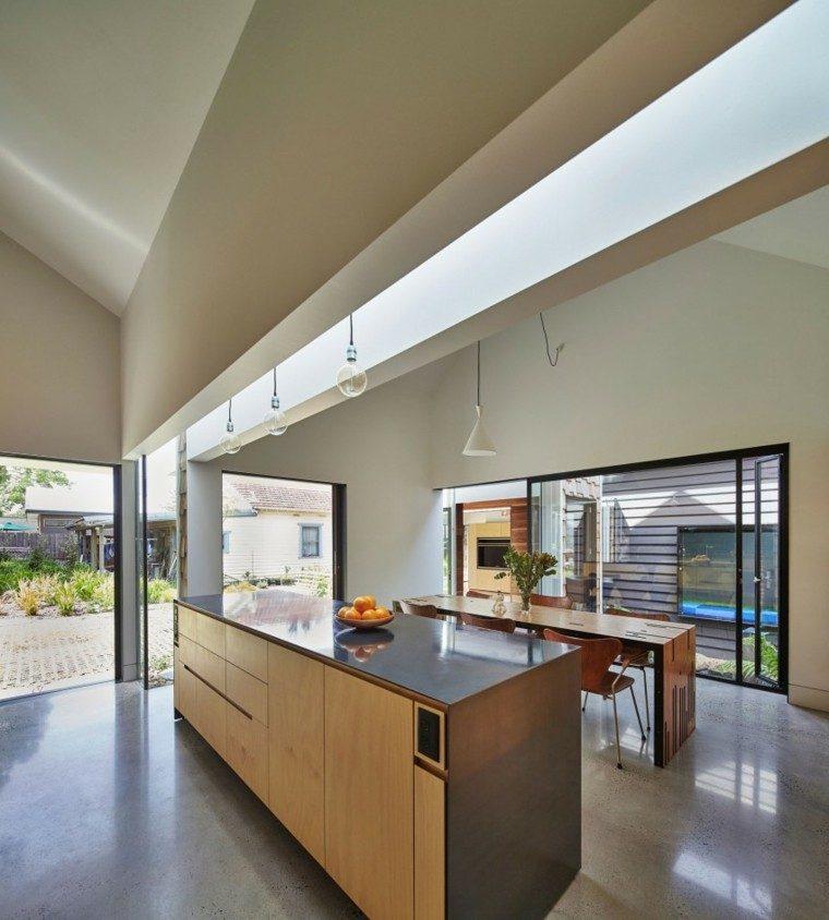 isla cocina estilo moderno luz