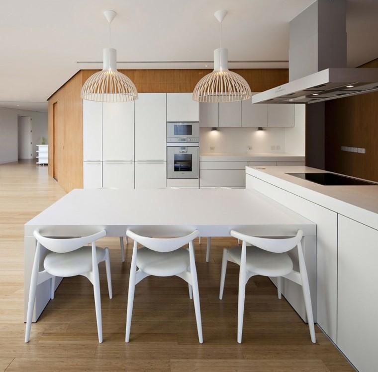 Mesas de cocina modernas pr cticas y funcionales - Cocinas con mesas ...