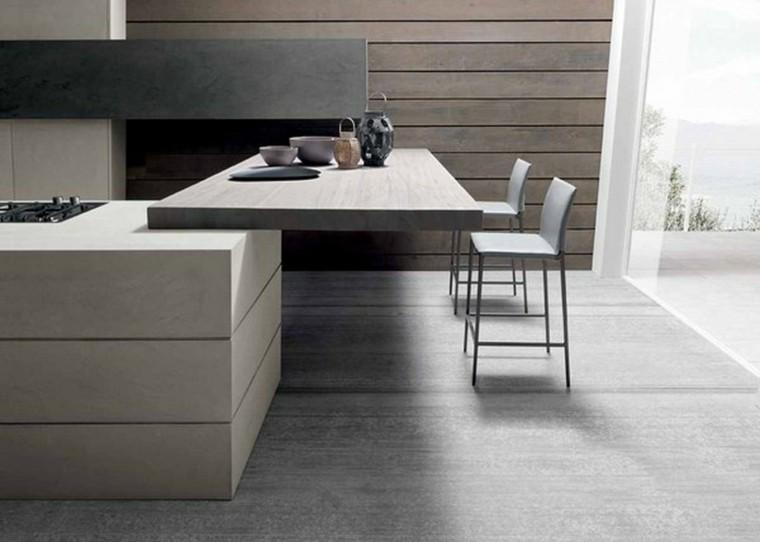isla cocina mesa extensible madera