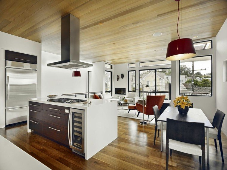 Blanco y madera cincuenta ideas para decorar tu cocina for Idee ambiente