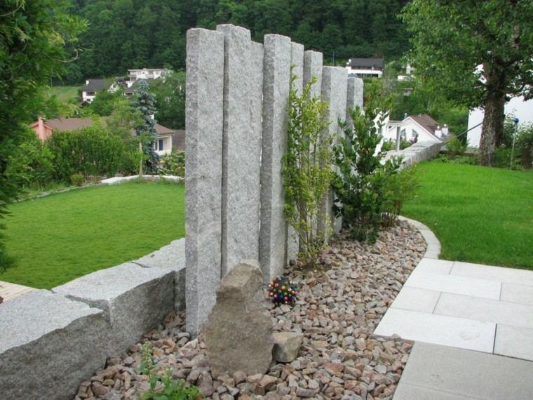 Muros en el jard n 75 ideas que te encantar n for Caminos de jardines rusticos