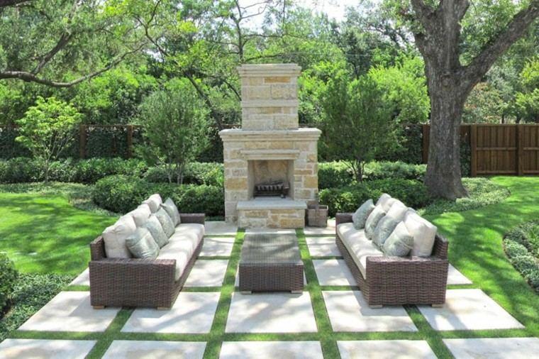 Dise o de jardines jardines verticales chimeneas piscinas - Chimeneas para jardin ...