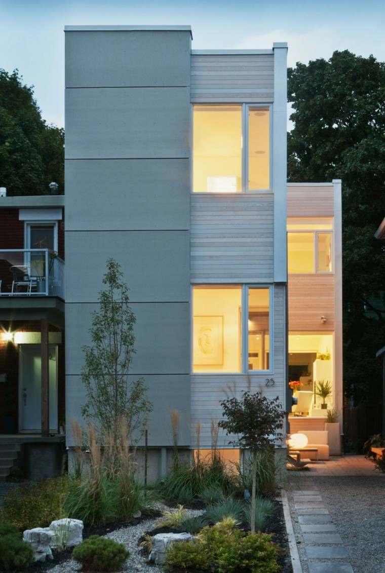 jardin casa calida bombillas moderna